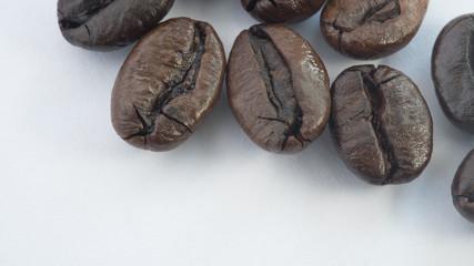 Fresh coffee beans, selective focus