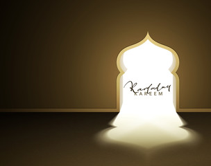 Ready to design for the religious holiday of Ramadan Kareem.