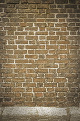 brick wall texture grunge background