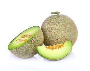 cantaloupe melon isolate on a white background.