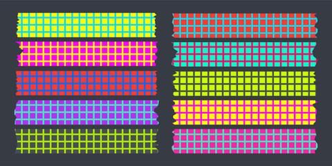 masking tape set fluorescent color