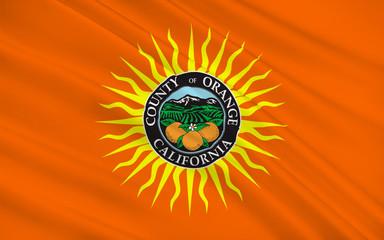 Flag of Orange County, California, USA