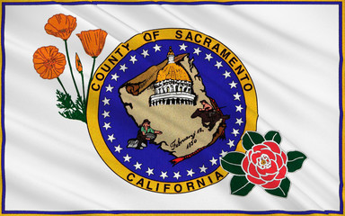 Flag of Sacramento County, California, USA