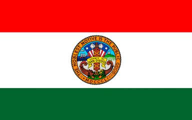 Flag of San Diego County, California, USA