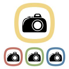 Vector colorful camera icon