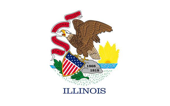 Flag of Illinois, USA