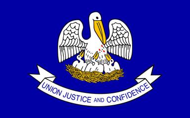 Flag of Louisiana, USA