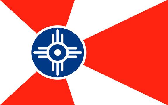 Flag of Wichita in Kansas, USA