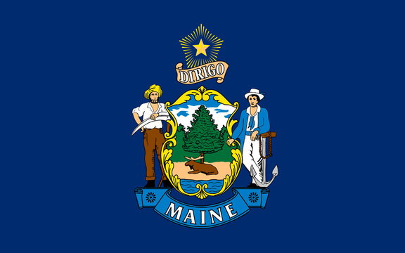 Flag of Maine, USA