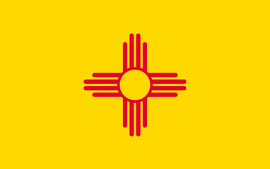 Flag of New Mexico, USA