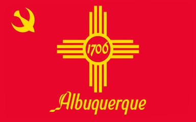 Flag of Albuquerque in New Mexico, USA