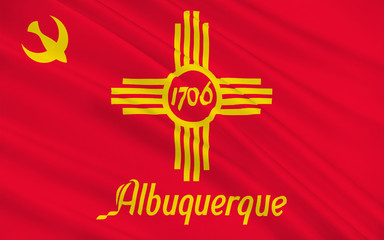 Flag of Albuquerque in New Mexico, USA