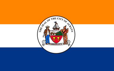 Flag of Albany in New York, USA