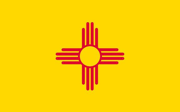 Flag of New Mexico, USA