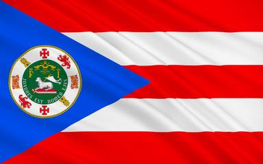 Flag of Puerto Rico, USA
