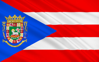 Flag of Puerto Rico, USA