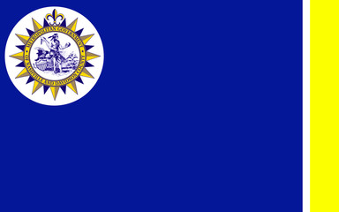 Flag of Nashville in Tennessee, USA