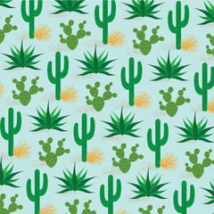 desert cactus pattern