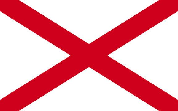 Flag of Alabama, USA