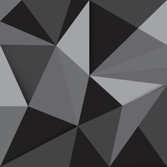 abstract dark gray polygonal illustration background vector
