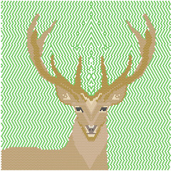 deer image of geometric shapes