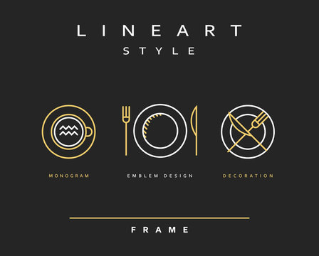 Set cutlery icons. Plate fork and knife . Template for food presentation , advertising text . Template for cafes, restaurants, bars, hotels. Beautiful , stylish sketch background - the template .