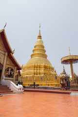 Wat Phra That Hariphunchai . is a Buddhist temple in Lamphun, Thailand.