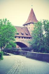 Wall Mural - Old tower in Nuremberg