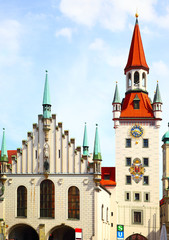 Wall Mural - Town hall in Munich