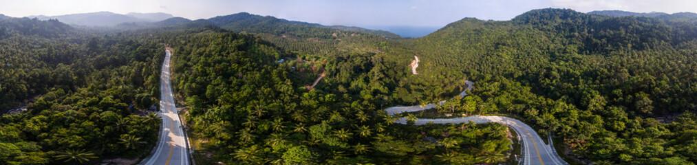 Aerial panoramic view of Koh Phangan, Thailand