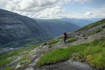 Randonneuse en Hardangervidda