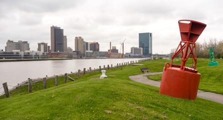 Toledo Ohio Waterfront Downtown City Skyline Maumee River