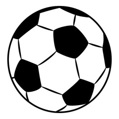 Football / Soccer Ball Simple Sports Vector Illustration Sign