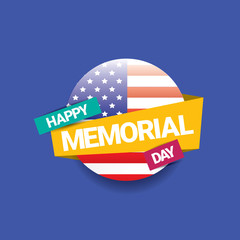 Happy Memorial Day banner . memorial day card.