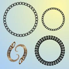 round chains set frames