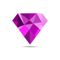 Diamond icon - vector illustration.
