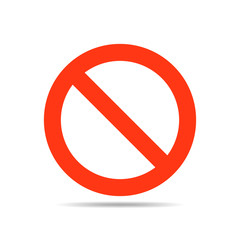 Not Allowed Sign - vector illustration