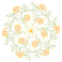 Ornamental round floral pattern. EPS10.