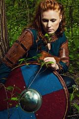 Scandinavian woman with shield