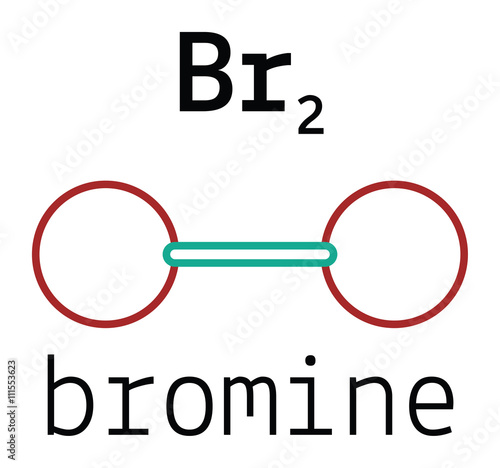 """Br2 bromine molecule"" Stock image and royalty-free vector ..."
