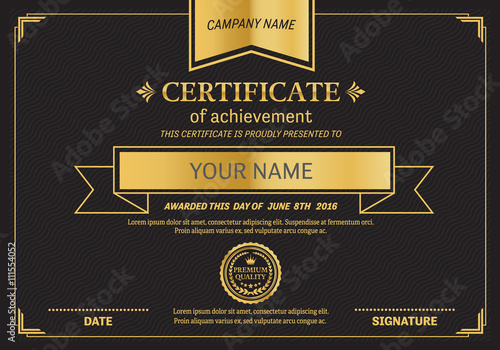 Black and gold certificate template vector illustration design eps black and gold certificate template vector illustration design eps illustrator 10 diploma certificate vector yadclub Gallery