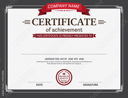 Red ribbon certificate template vector illustration design eps red ribbon certificate template vector illustration design eps illustrator 10 certificate vector yelopaper Gallery