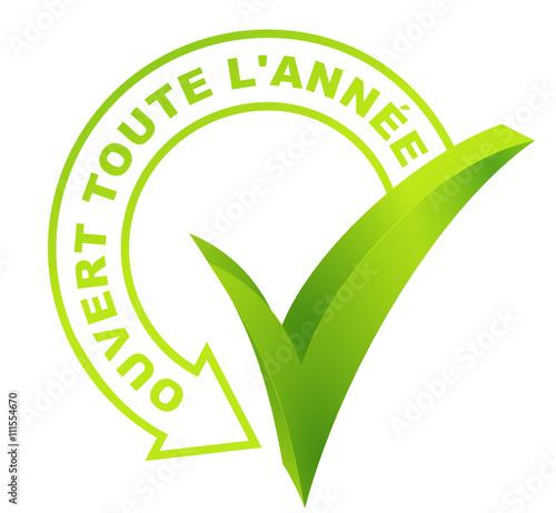 efde3db473edb2 ouvert toute l année sur symbole validé vert