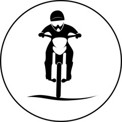 Motorcycle Rider sign