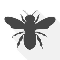 Bee icon, Bee icon vector, Bee icon simple