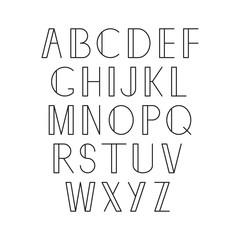 Linear alphabet. Vector.