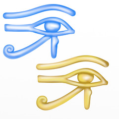 two versions of the Eye of Ra