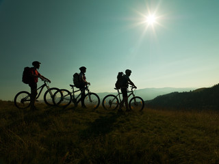 bikers with mountain bike
