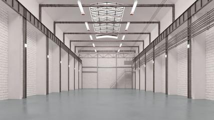 Große leere Halle als Lager