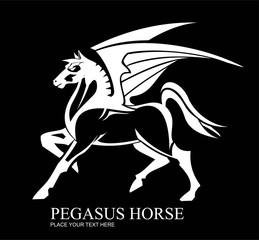 Pegasus. Standing pegasus